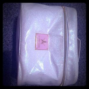 Jeffree star white Glitter bag